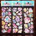 6 Hojas de Mi Pony pegatinas para los niños En Casa decoración de la pared el Pony de dibujos animados portátil mini 3D de la etiqueta engomada frigorífico skateboard garabato