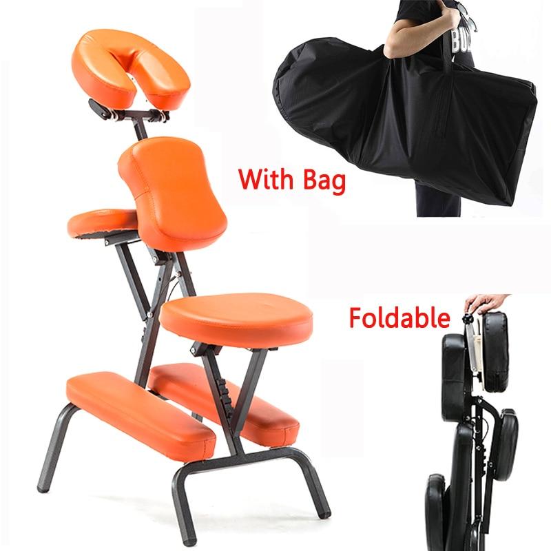 Portable En Cuir Pad De Massage Chaise Pliante Réglable Tatouage Grattage Chaise Avec Accoudoir Haute Qualité Beauté Lit avec sac