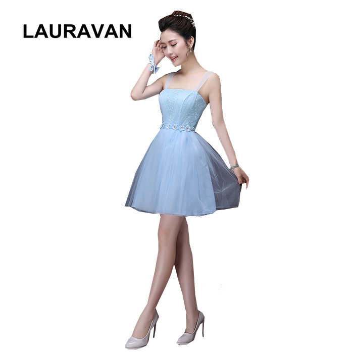 0463be8834 short girls puffy bridesmaid sweet 16 blue color tulle pageant ball gown  dresses garden girl dress for guests free shipping