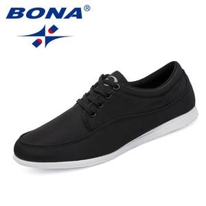 Image 3 - BONA החדש קלאסיקות סגנון גברים נעליים יומיומיות בד גברים פנאי נעלי תחרה עד גברים אופנה סניקרס נעליים נוח משלוח חינם