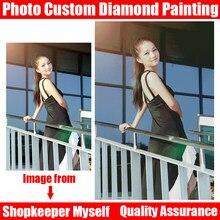 Homfun写真カスタム!プライベートカスタム!diyダイヤモンド刺繍5Dダイヤモンド塗装クロスステッチ3Dフルラインストーン5Dの装飾のギフト