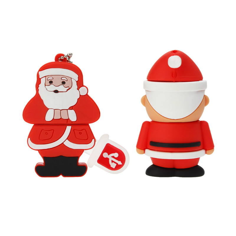 Image 2 - Usb Flash Drive 32GB 64GB Pen Drive Cartoon Santa Claus Milu Pendrive 4GB 8GB 16GB 128GB USB Stick Best Christmas Gift U Disk-in USB Flash Drives from Computer & Office