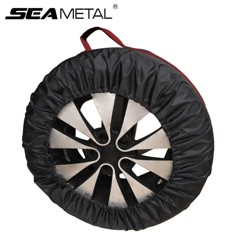 251cc6ecb2 Spare Tire Cover 4Pcs Wheel Protection Universal For 14 15 17 18 19 20 Inch  Car