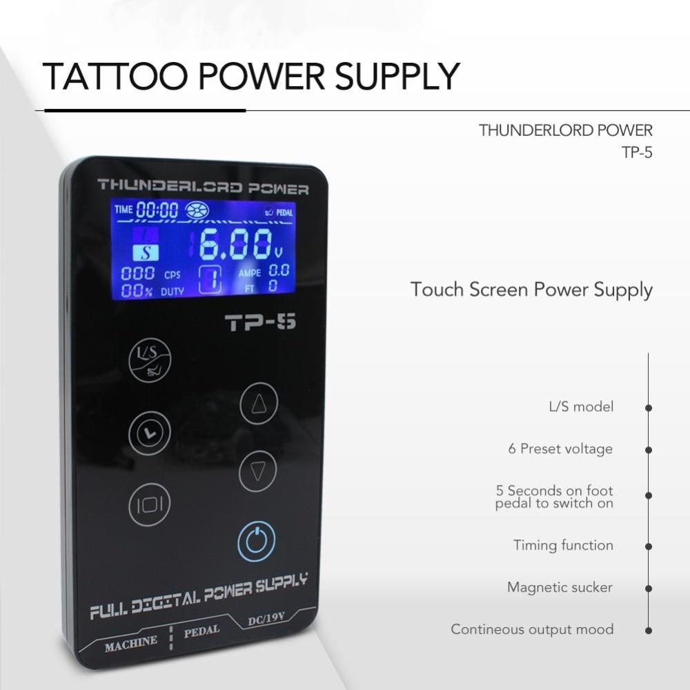 Touch Screen TP 5 Intelligent Digital LCD Makeup Dual Tattoo Power Supplies Set Supply