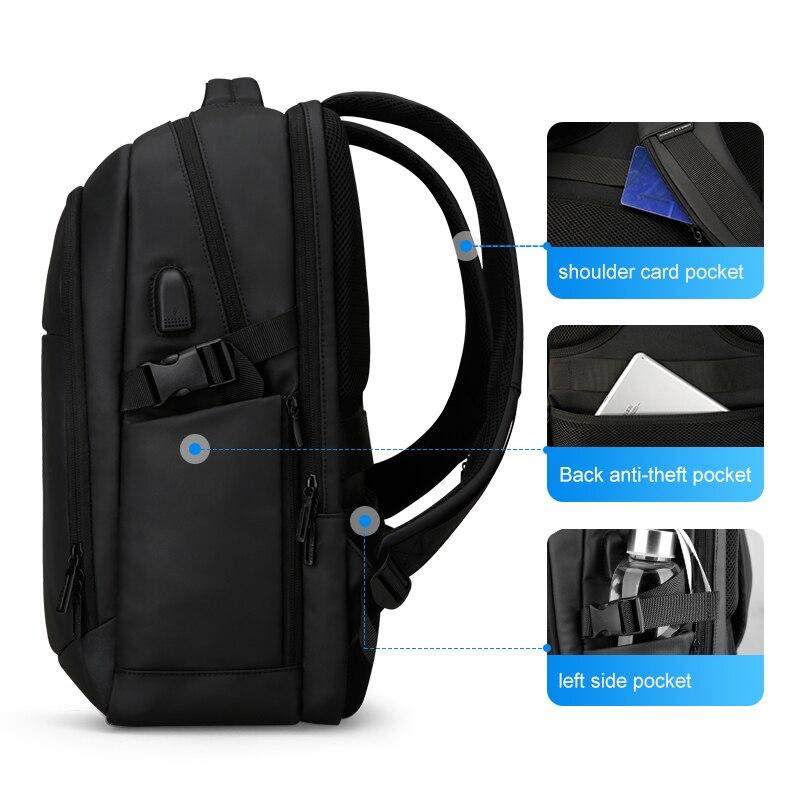 Mark Ryden 2019 homme sac à dos multifonctionnel étanche 15.6 pouces ordinateur portable multi-couche poches sac homme USB charge école sac à dos - 4