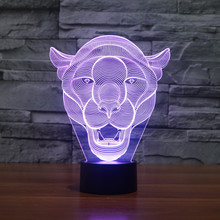 Decorative Night Light Home Decoration Kiddie Kids Gift Lioness 3D Lamp Room Bedroom  цена 2017
