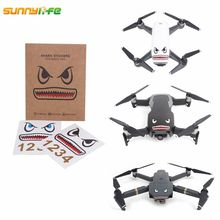 Sunnylife Mavic Air Accessories Spark Sticker Drone Body Shell Decals Skin Mavic Pro Shark Sticker Platinum Aircraft Paster
