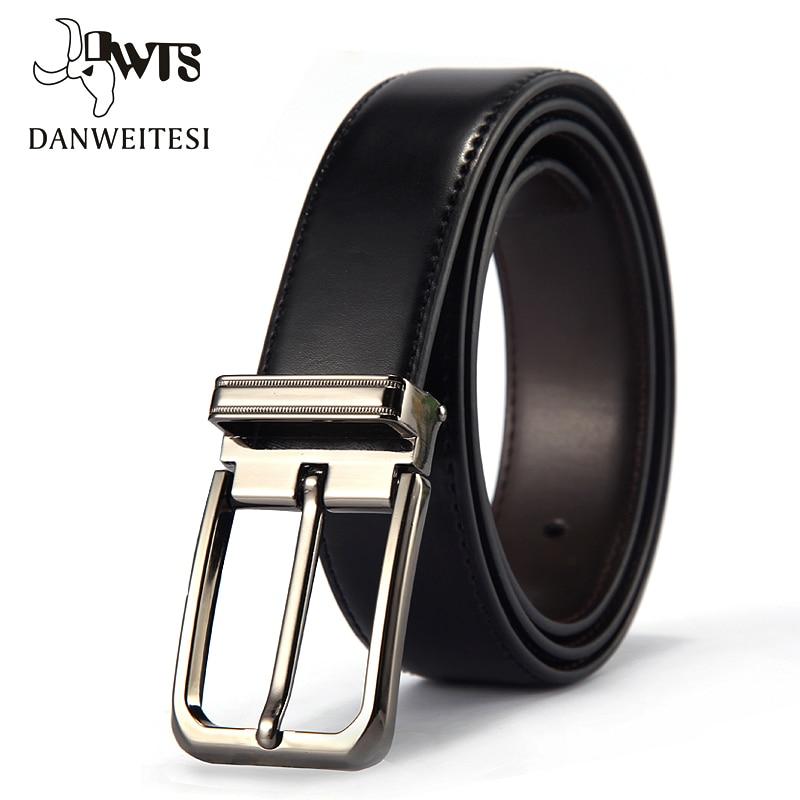 [DWTS]2018 Leather Belt Men Designer Belts Men High Quality Male Genuine Leather Strap Pin Buckle For Jeans Cinturon Hombre
