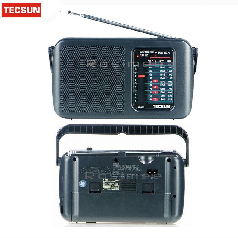 Radio Tragbares Audio & Video Einzelhandel-großhandel Hohe Qualität Tecsun R-303 Fm/mw/sw/tv Hohe Empfindlichkeit Radio Digital Empfänger Tropfen Verschiffen Desheng Radio