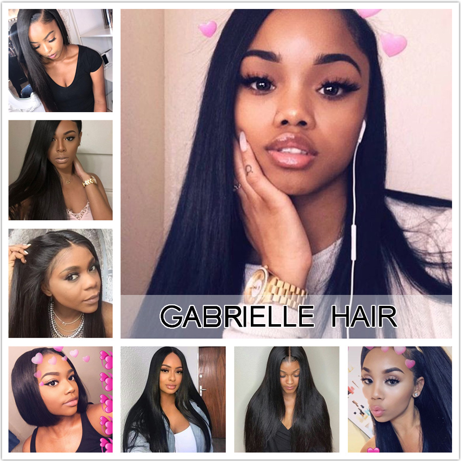 Gabrielle Peruvian Straight Hair Bundles 1pc/lot Natural Black 100% Non Remy Human Hair Weave Extensions 8-28 inch Free Shipping