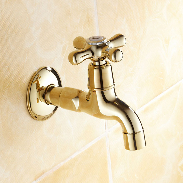 garden hose faucet. Free Shipping Gold Color Brass Lengthen Bathroom Faucet Basin Wachine Machine Water Cold Tap Garden Hose