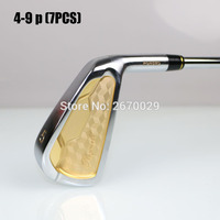 2016 NEW male golf clubs iron set right handed steel flex S /R 4 9,p 7 pcs/lot free shipping