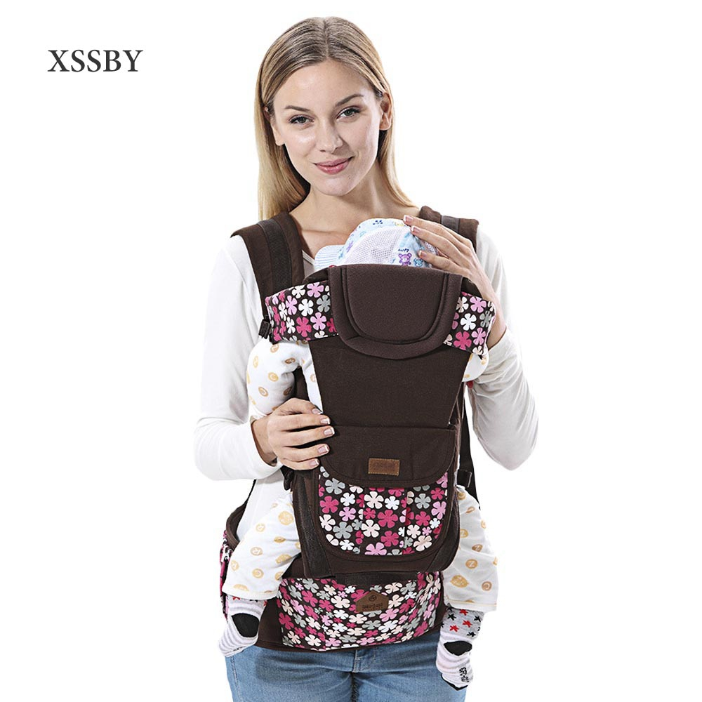 XSSBY Ergonomic Baby Carrier Sling Breathable Baby Kangaroo Hipseat Backpacks & Carriers Multifunction Removeable Backpack Sling  недорого