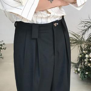 Image 3 - Мужские хлопковые брюки для отдыха 2020, мужские высококачественные тканевые повседневные штаны шаровары, западный стиль, светильник, брюки серого/черного цвета