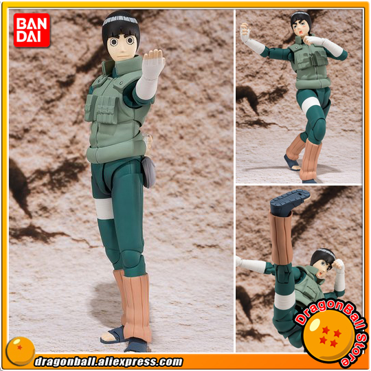 Japan Anime NARUTO Shippuden Original BANDAI Tamashii Nations S.H.Figuarts / SHF Exclusive Action Figure Rock Lee