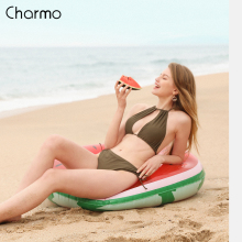 Charmo 2019 New Bikini Set Women Swimsuit Solid Front Hollow Out Graceful Swimwear Strappy Sets