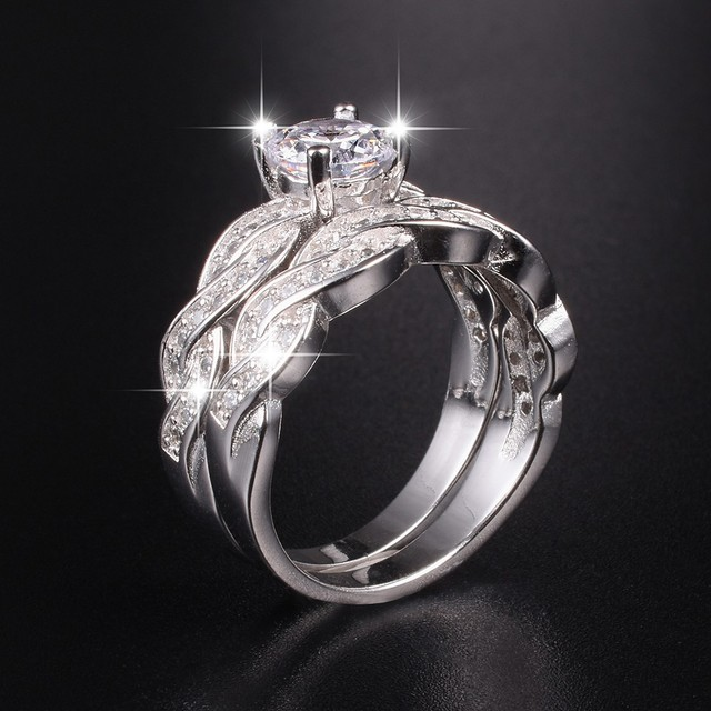 femme plated bagues shop white carat gold wedding cz ring for aaa bijoux rings engagement luxury simulated diamond women
