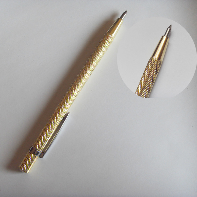 Diamond Cutting Sharp Pen Cutter for Mobile Phone Tablet PC Glass Screen Gold Color  diamond head glass cutter ceramic tile cutting art paint brush engraving pen glass stone metal lettering cutting act004