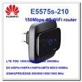Chegada nova original desbloquear 150 mbps huawei e5575 portátil 4g modem lte wifi router fdd 1800/2600 mhz e tdd2600mhz