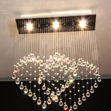 Heart shaped Ceiling Lamp Modern Minimalist Double Heart Crystal Lamp Restaurant Bar Crystal LED Lights Bedroom