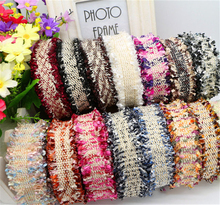 10Yards Meetee 3cm Multicolor Tassel Lace Trim Ribbon Webbing Fabric Sewing Clothing Hair Accessories DIY Neckline Material 2154