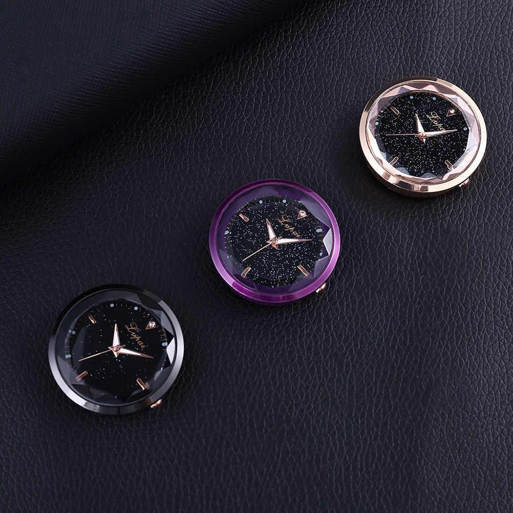 1 Pc nuevo reloj electrónico de decoración de coche automático con pegatina reloj de coche Interior del salpicadero reloj de adorno en accesorios de coche