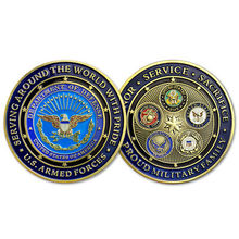 New Proud Military Family U.S. Armed Forces - Challenge Coin USCG US Coast Guard Challenge Coins, free delivery 15pcs/lot united states military armed forces full size ribbon us merchant marine expeditionary