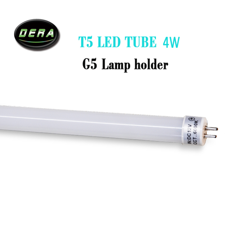 2pcs T5 G5 Led Tube T5 Light DC12V 1FT 4W 300mm 330mm Built-in Driver Fluorescent Replacement 0.3m Tube Light Lamp Living Room
