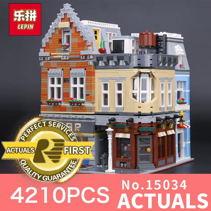Lepin 15034 4210Pcs Genuine MOC Series The New Building City Set Building Blocks Bricks Educational Toys Model for children lepin 16050 the old finishing store set moc series 21310 building blocks bricks educational children diy toys christmas gift