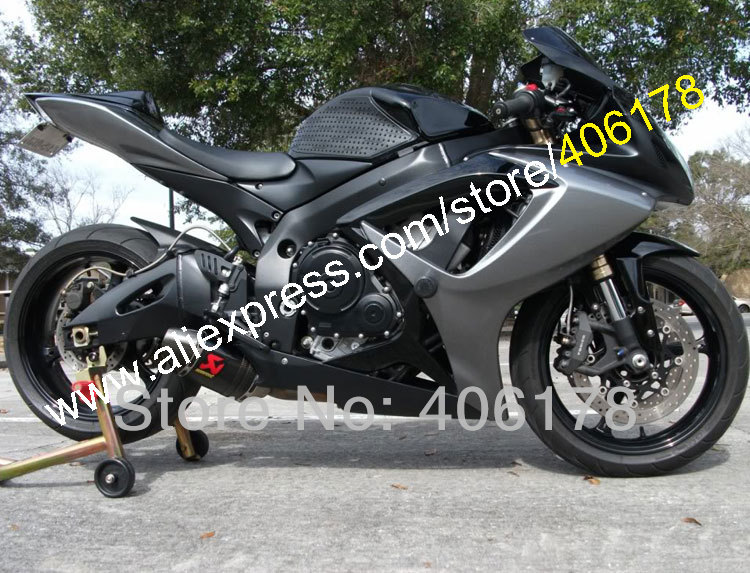 Buy <font><b>Fairing</b></font> For GSXR600 GSX-R <font><b>600</b></font> <font><b>GSXR</b></font> <font><b>600</b></font> 750 <font><b>2006</b></font> 2007 06 07 K6 Black Gray <font><b>fairing</b></font> Kit (Injection molding) image
