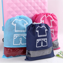 Waterproof Shoes Storage Bags Dustproof Cover Clothes Bags Drawstring Travel Pouch Bag Cover Non-Woven Laundry Organizer Bags