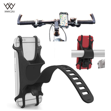 Universal Bike Phone Holder Bicycle Handlebar Stroller Mount For 4-6 Inch Cell Adjustable Silicone Motorcycle