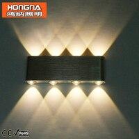 Free Shipping 8W LED Wall Lamp Aluminum Material Lamp Body 110V 220V High Power LED Wall