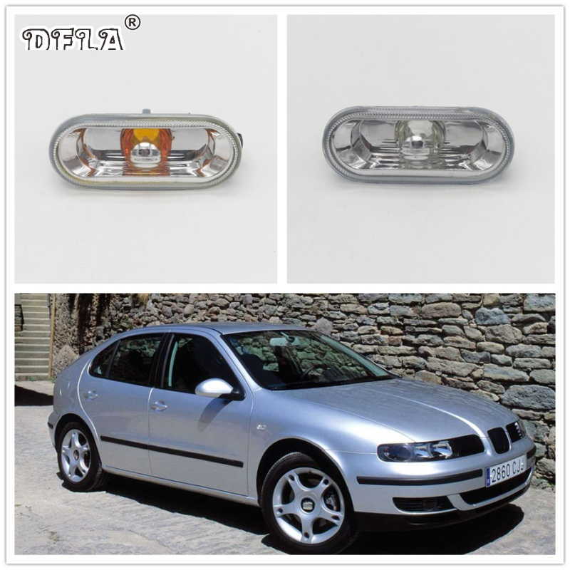 2pcs For SEAT Leon 2000 2001 2002 2003 2004 2005 2006 Car-Styling Side Marker Turn Signal Light Lamp Repeater 2pcs for vw sharan 2001 2002 2003 2004 2005 car styling side marker turn signal light lamp repeater