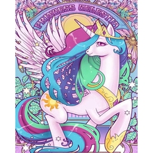 Diamond Painting Full Square Beautiful Colorful Unicorn Embroidered with Rhinestones Daimond Wall Art Y1966