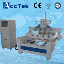 AKM1325 4 axis & 4 rotary cnc router rotary axis