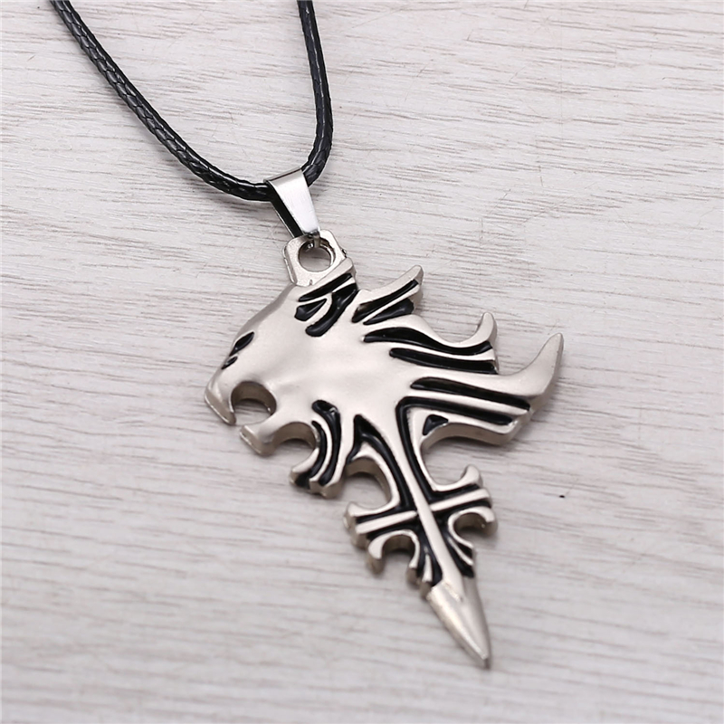 Julie final fantasy silver lion heart squall griever pendant julie final fantasy silver lion heart squall griever pendant necklaces for women men choker necklace game jewelry colar jj10652 in pendants from jewelry aloadofball Image collections