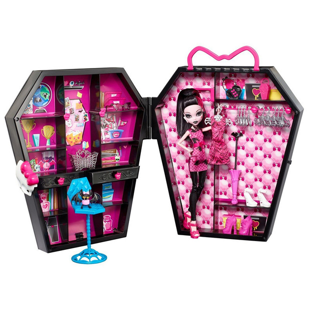 The Monster Doll Toy Combined Toy Closet Desk for Monster High Dolls Elves High School Accessorie Fairy Tale girl christmas Gift