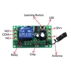 Image 2 - 315 Mhz 433 Mhz Wireless Remote Control Light Switch 10A Relè Radio Uscita 9 V 24 V 1 Canali Ricevitore modulo Trasmettitore