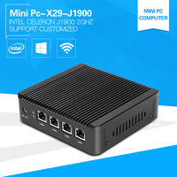 Mini PC 4 LAN Firewall Router Intel Celeron J1900 Quad core 2.0Ghz Barebone Industrial Mini Computer pfsense Gateway Appliance