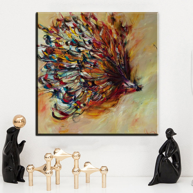 ZZ502 Watercolor Canvas Prints Art Beautiful Butterfly Canvas Pictures Oil  Art Painting For Livingroom Bedroom Decoration