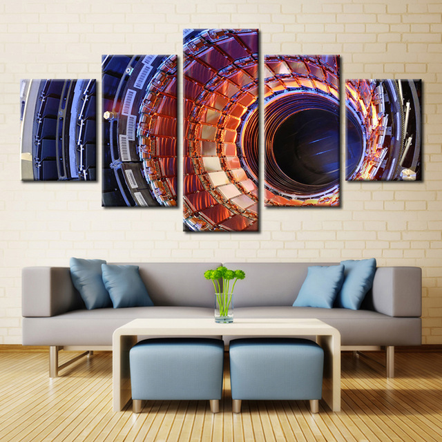 5 pieces canvas 5 panel independent magnetic resonance imaging