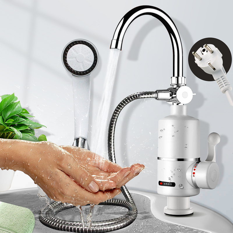 3000W Instant Hot Water Tap Tankless Electric Faucet Kitchen Instant Hot Faucet Water Heater Water Heating Digital Display 220V