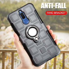 Luxury Armor Case For Huawei Maimang 6 7 Phone Cover Silicone Shockproof Ring Holder Back