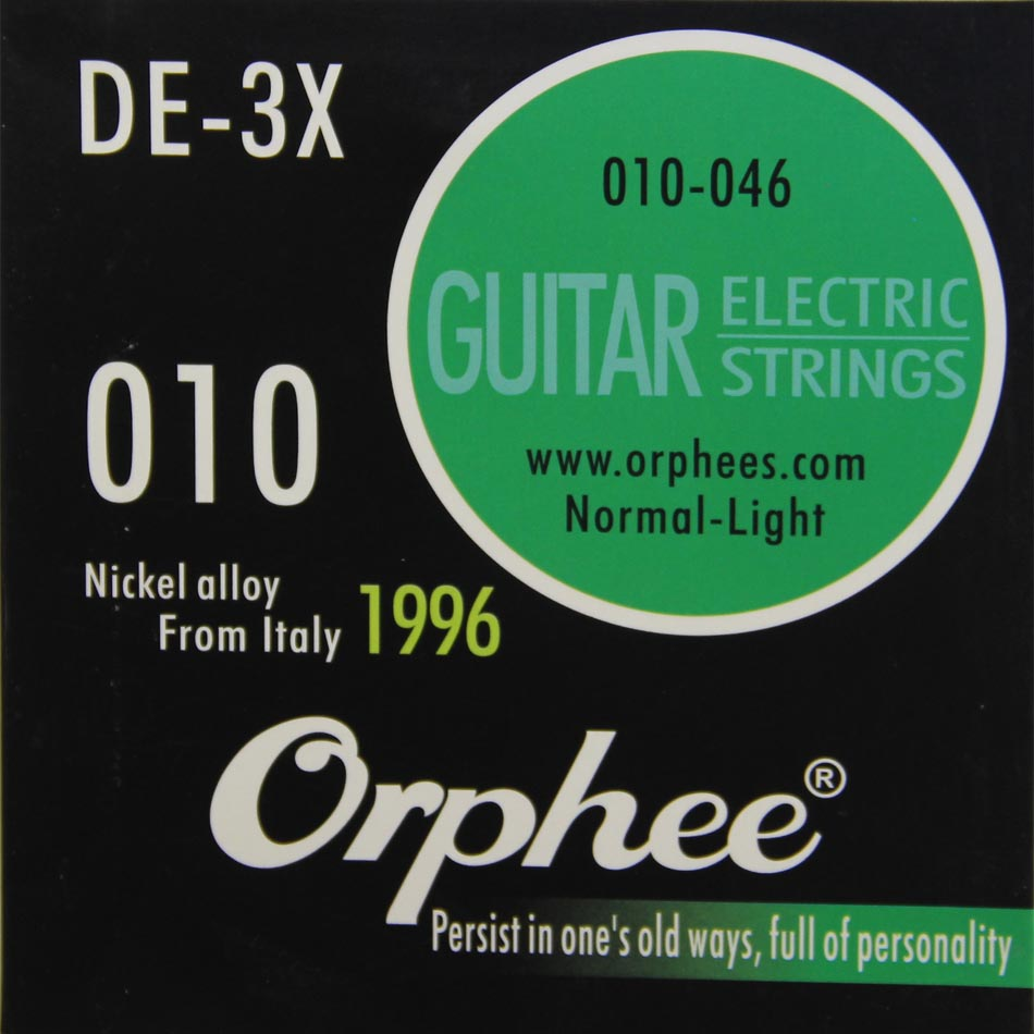 Orphee DE-3X 6pcs/set guitar accessories Electric Guitar Strings Nickel Alloy String Normal-Light string