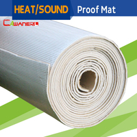 Cawanerl 2sqm 80 X 40 Auto Car Heat Shield Sound Insulation Noise Proof Deadener Mat For Firewall Door Ceiling Trunk Cockpit