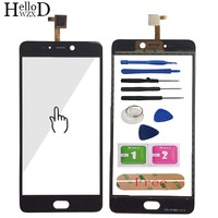 5 5 Mobile Phone Touch Screen For Leagoo T5 Touch Screen Digitizer Panel Front Glass Capacitive