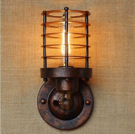 ФОТО America Retro Vintage Wall Light Beside Lamp Loft Industrial Wall Sconce Stair Light Lamparas De Pared