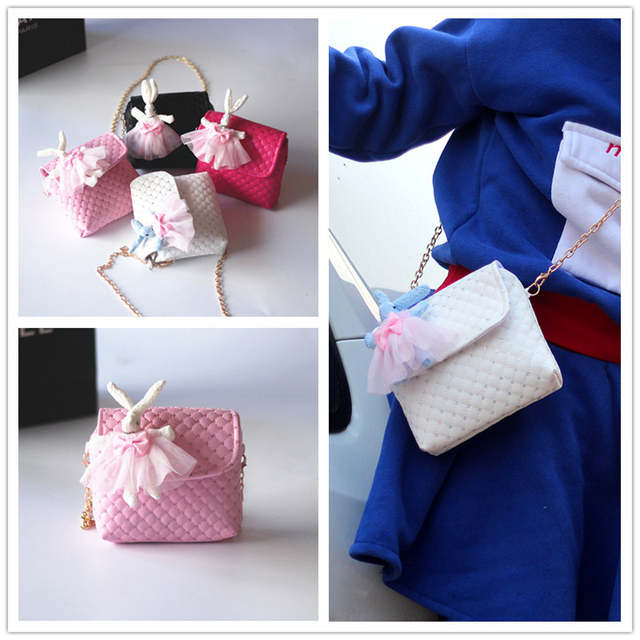 9d96d244d75 placeholder 2018 New han edition cute girl child baby rabbit bag princess  fashion bag PU bag children