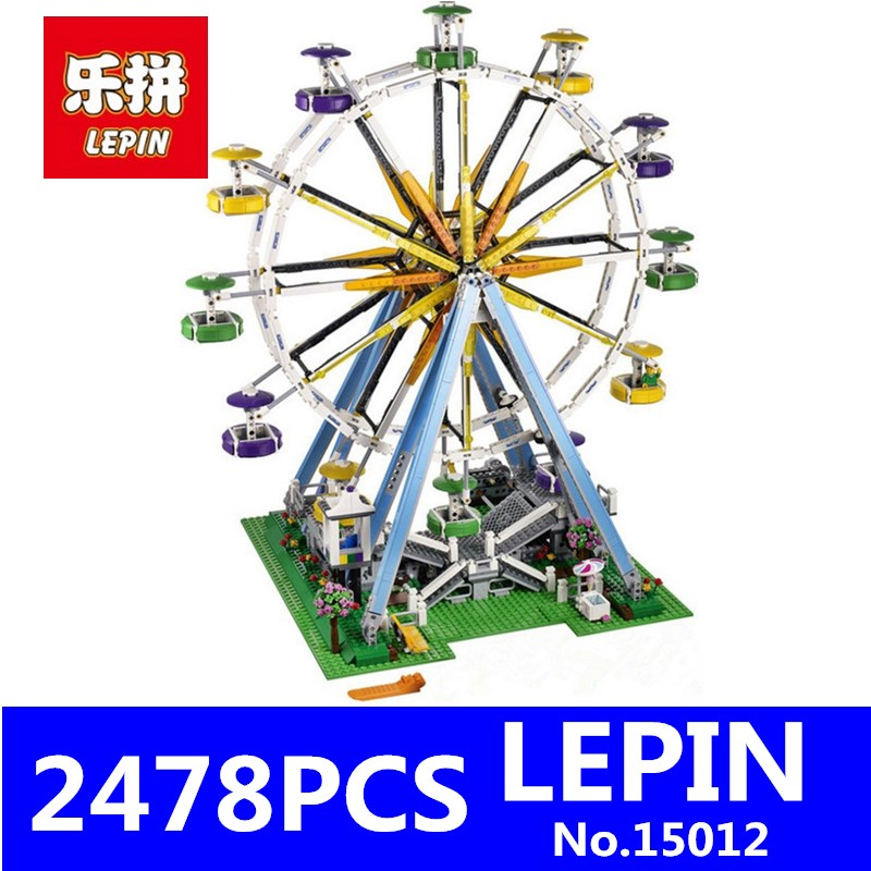 LEPIN 15012 City Creator Expert Ferris Wheel Model Building Kits Assembling Block Bricks Toys for Children Compatible with 10247 compatible lepin city block police dog unit 60045 building bricks bela 10419 policeman toys for children 011